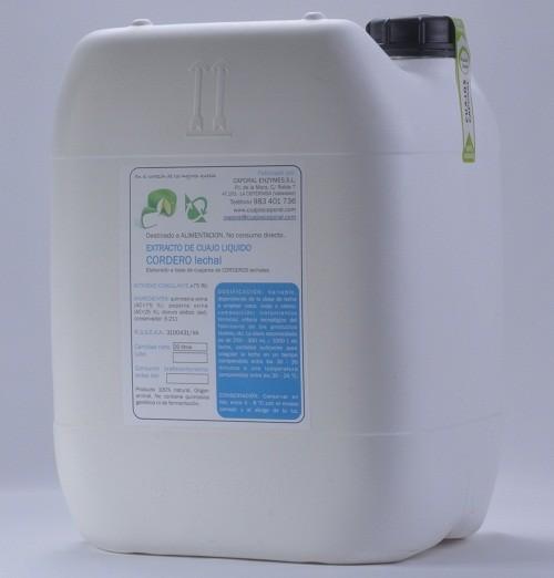 20 L Extracto de cuajo líquido Cordero lechal