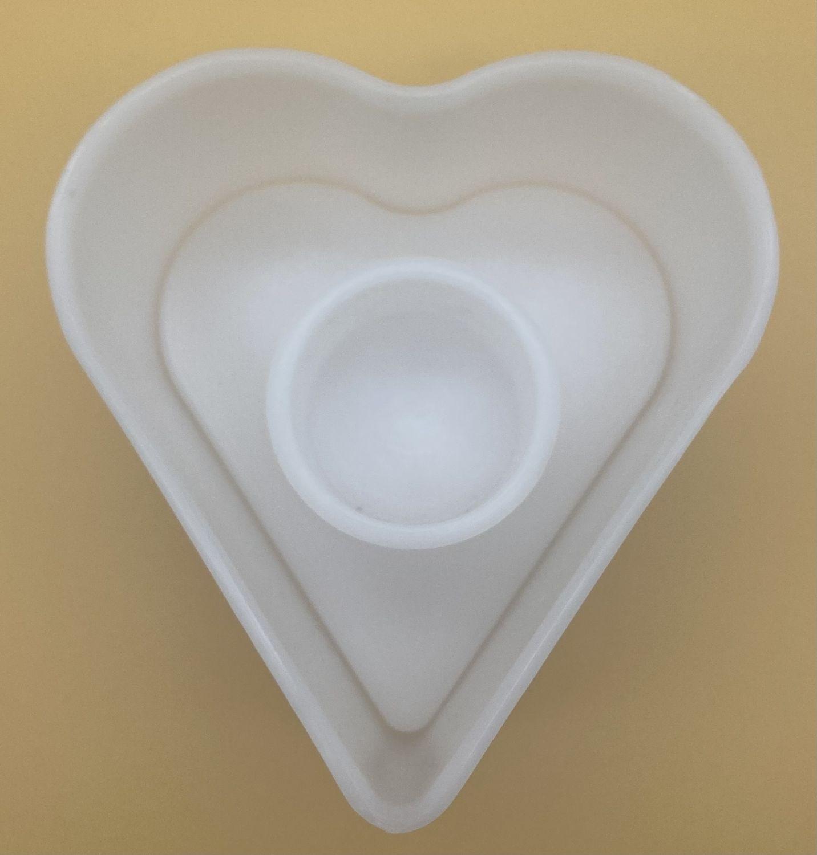 Molde forma corazón con tapa 300 - 500 gramos